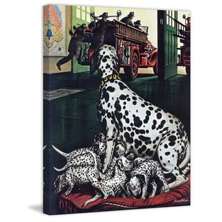 Marmont Hill - Dalmatian and Pups by Stevan Dohanos Painting Print on Canvas