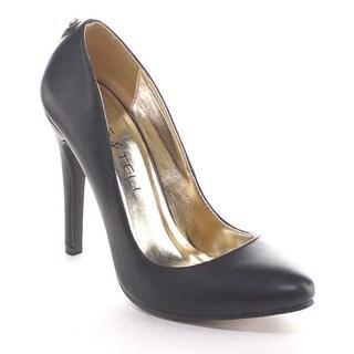 Beston Bb05 Women's Pointed Toe Slip On Back Zipper Stiletto Heels