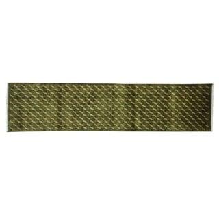 Criss Cross Design Modern Nepali Runner Handmade Rug (2'4 x 9'9)