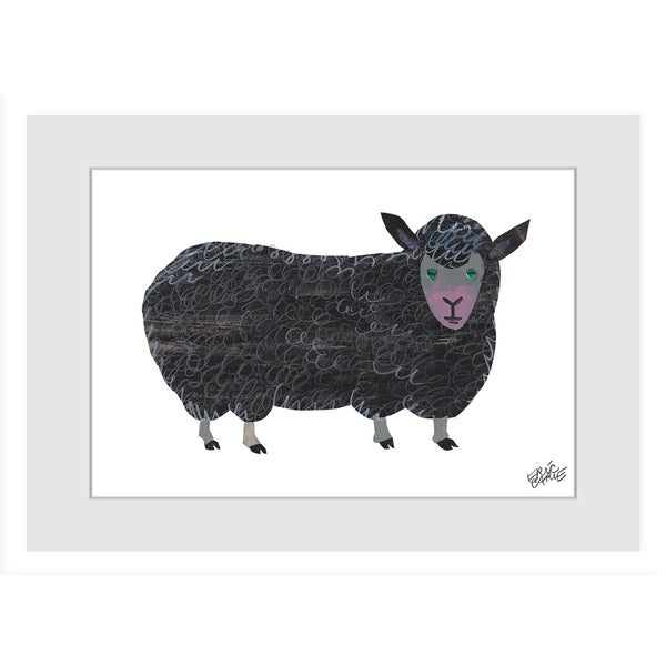 Marmont Hill - Black Sheep by Eric Carle Painting on Framed Print - Multi-color