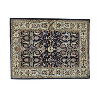 Pure Wool Hand-knotted Peshawar Mahal Design Oriental Rug (4'10 x 6'5)