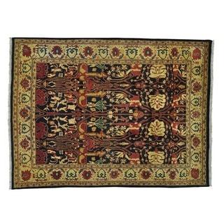 Agra Antique Bidjar Design Pure Wool Handmade Oriental Rug (9' x 12')