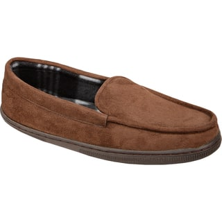 Black Series Memory Foam Moccasin Slippers|https://ak1.ostkcdn.com/images/products/10807171/P17852937.jpg?impolicy=medium