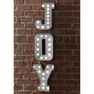 Apothecary & Company 13.5in. Metal LED Marquee JOY Sign
