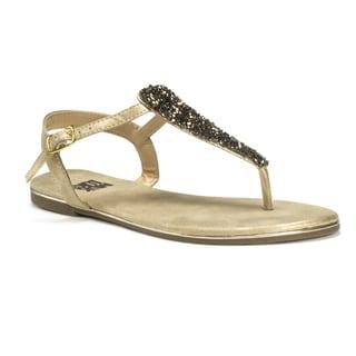 Muk Luks Women's Gold Janice Beaded Sandals