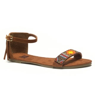 Muk Luks Women's Brown Phoebe Beaded Sandals
