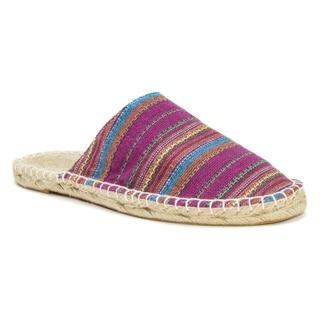 Muk Luks Women's Pink Hannah Scuff Sandals