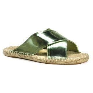 Muk Luks Women's Green Misty Sandals