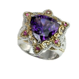 One-of-a-kind Michael Valitutti Amethyst & Pink Sapphire Ring