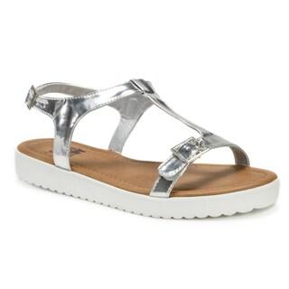 Muk Luks Women's Silver Joy Sandals