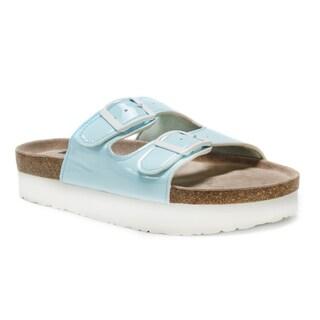 Muk Luks Women's Blue Diane Sandals