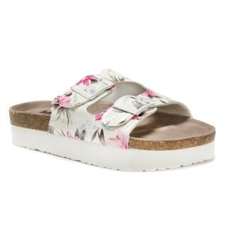 Muk Luks Women's Pink Diane Sandals