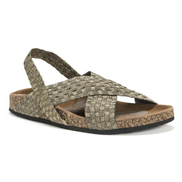 Shop Muk Luks Women S Gold Morgan Wedge Sandals Free