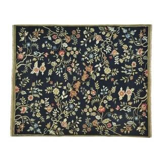 Flat Weave Soumak Botanical Design Handmade Oriental Rug (8' x 10')