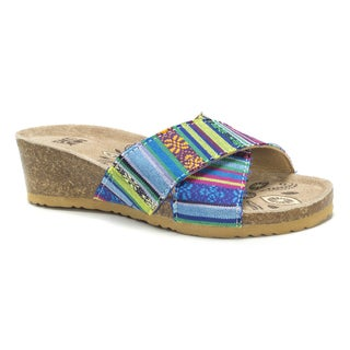 Muk Luks Women's Multi Helene Wedge Sandals