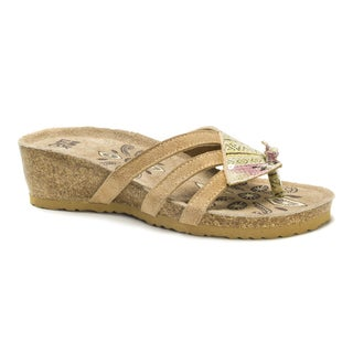 Muk Luks Women's Pink Allison Wedge Sandals