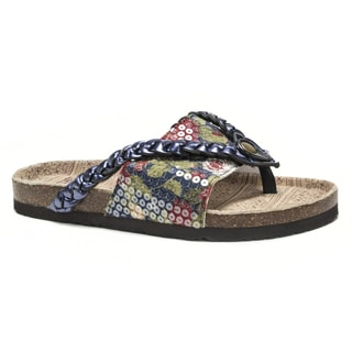 Muk Luks Women's Blue Elaine Sandals