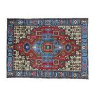 Pure Wool Handmade Full Pile Persian Nahavand Oriental Rug (4'8 x 6'2)
