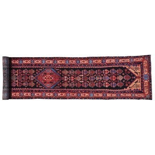 Persian Nahavand XL Runner Pure Wool Handmade Rug (3'5 x 16'5)