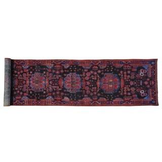 XL Runner Pure Wool Persian Nahavand Handmade Rug (3'8 x 16'9)