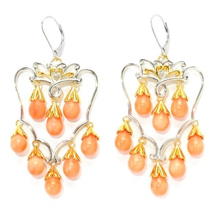 Michael Valitutti Salmon Coral Chandelier Earrings