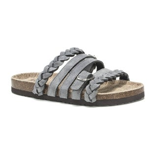 Muk Luks Women's Grey Terri Sandals