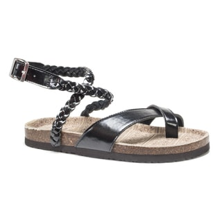 Muk Luks Women's Black Estelle Sandals