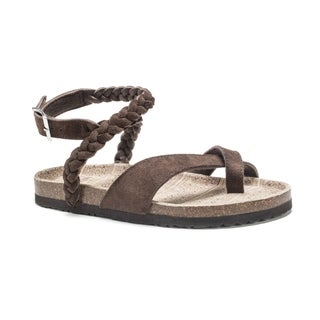 Muk Luks Women's Brown Estelle Sandals