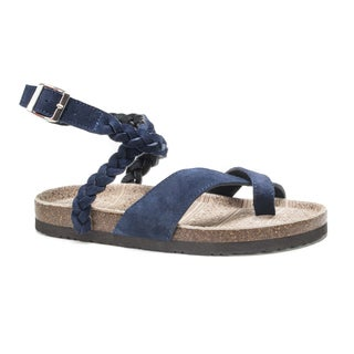 Muk Luks Women's Blue Estelle Sandals