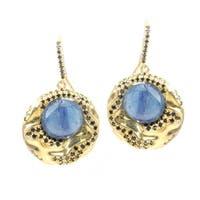 One-of-a-kind Michael Valitutti Black Spinel & Kyanite Earrings