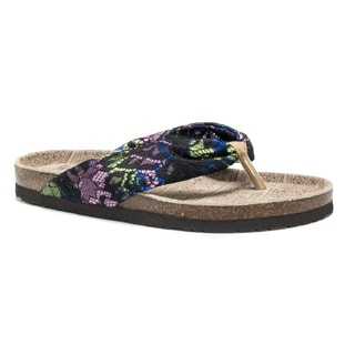 Muk Luks Women's Black Julia Sandals