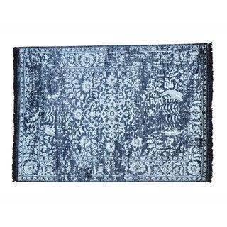 Modern Broken Design Rayon from Bamboo Silk Handmade Oriental Rug (5'1 x 7'2)