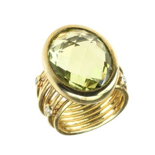One-of-a-kind Michael Valitutti Sterling Silver Ouro Verde Ring https://ak1.ostkcdn.com/images/products/10807393/P17853071.jpg?impolicy=medium