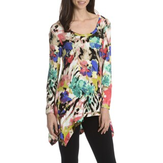 Sunny Leigh Women's Allover Paintbrush Printed Tunic
