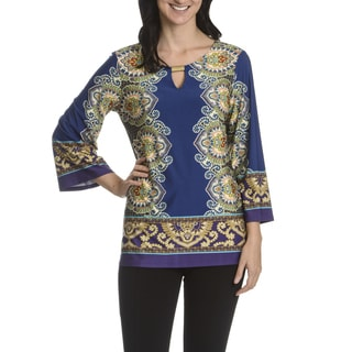 Sunny Leigh Women's Mirror Image Print Tunic