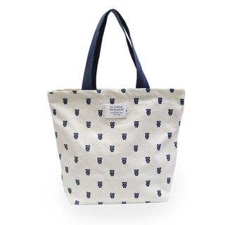 Sloane Ranger Blue Owl Canvas Tote Bag