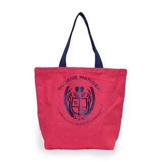 Sloane Ranger Red Crest Canvas Tote Bag