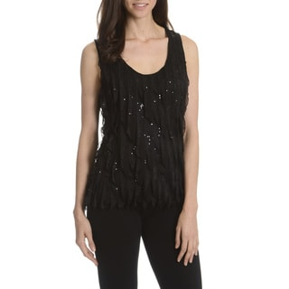 New York City Design Co. Women's Sequin and Ruffle Top