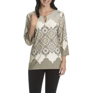 Sunny Leigh Women's Brocade Printed Top