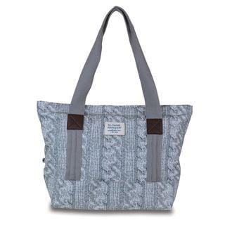 Sloane Ranger Cable Knit Canvas Tote Bag