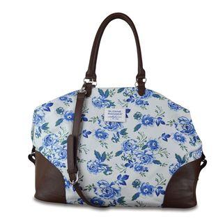 Sloane Ranger Vintage Floral Weekender Carry On Tote Bag
