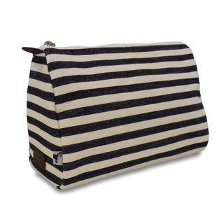 Sloane Ranger Denim Stripe Cosmetic/ Toiletry Pouch