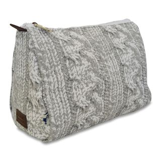 Sloane Ranger Cable Knit Cosmetic/ Toiletry Pouch