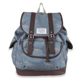 Sloane Ranger Grey Horse Slouch Backpack