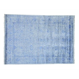 Handmade Rayon from Bamboo Silk Modern Broken Design Oriental Rug (7'8 x 10'8)