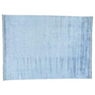 Handmade Rayon from Bamboo Silk Modern Broken Design Oriental Rug (8'7 x 11'10)