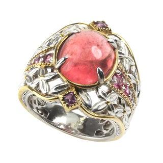 Michael Valitutti Silver Peach Opaque Sapphire Ring