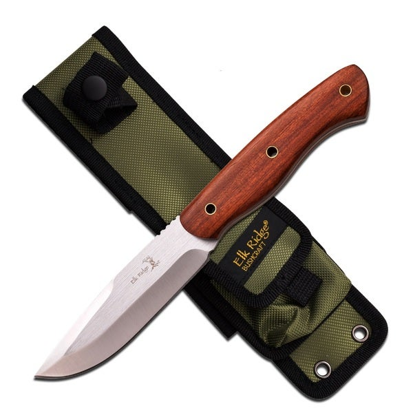 Elk Ridge Fixed Knife 10-inch 4.75-inch SS Blade Rosewood Handle