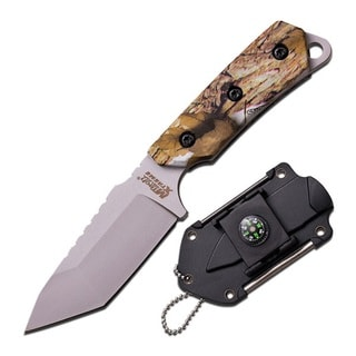 M-Tech USA Xtreme Neck Knife 5.5-inch with Camo Coated G10 Handle