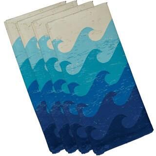 Deep Sea Geometric Print 19-inch Napkins (Set of 4)